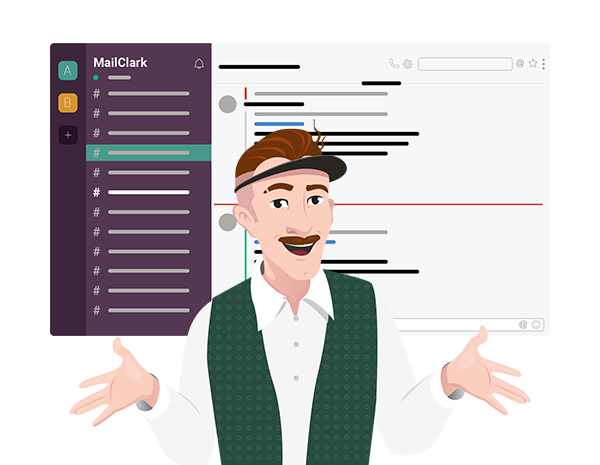 MailClark for Slack illustration