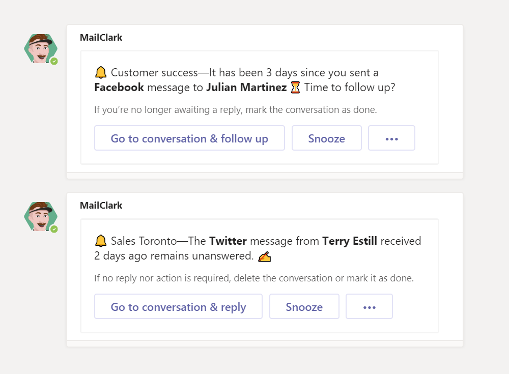 Optimize Twitter messages in Microsoft Teams with AI