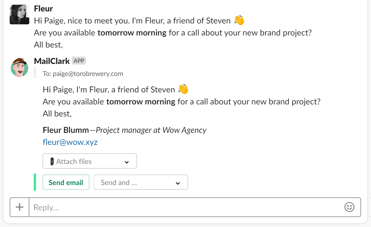 Improve productivity in managing Gmail in Slack with AI